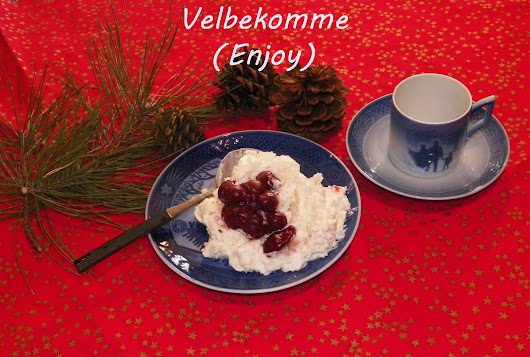 Danish Christmas Rice Pudding with cherry sauce