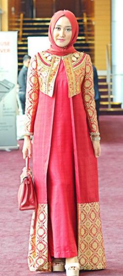 Model Baju Gamis Pesta Untuk Hijaber Fashion Terkini