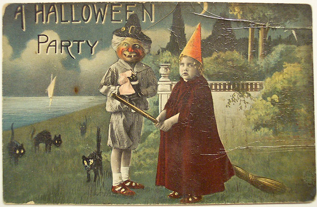 Bad Set Vintage Bizarre Vintage Halloween Postcards ~ Vintage Everyday