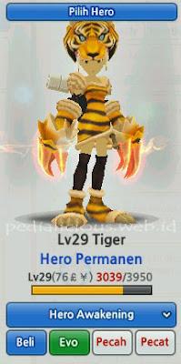 Wild Tiger Hero Evolution LostSaga Indonesia