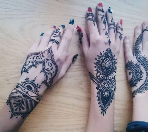 Henna Simple Telapak Tangan Makedes Com