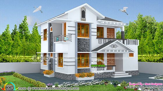 1519 square feet 4 bedroom modern house plan