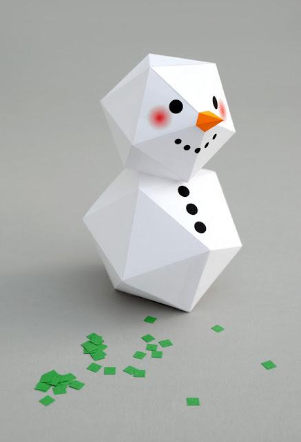 Người tuyết bằng giấy