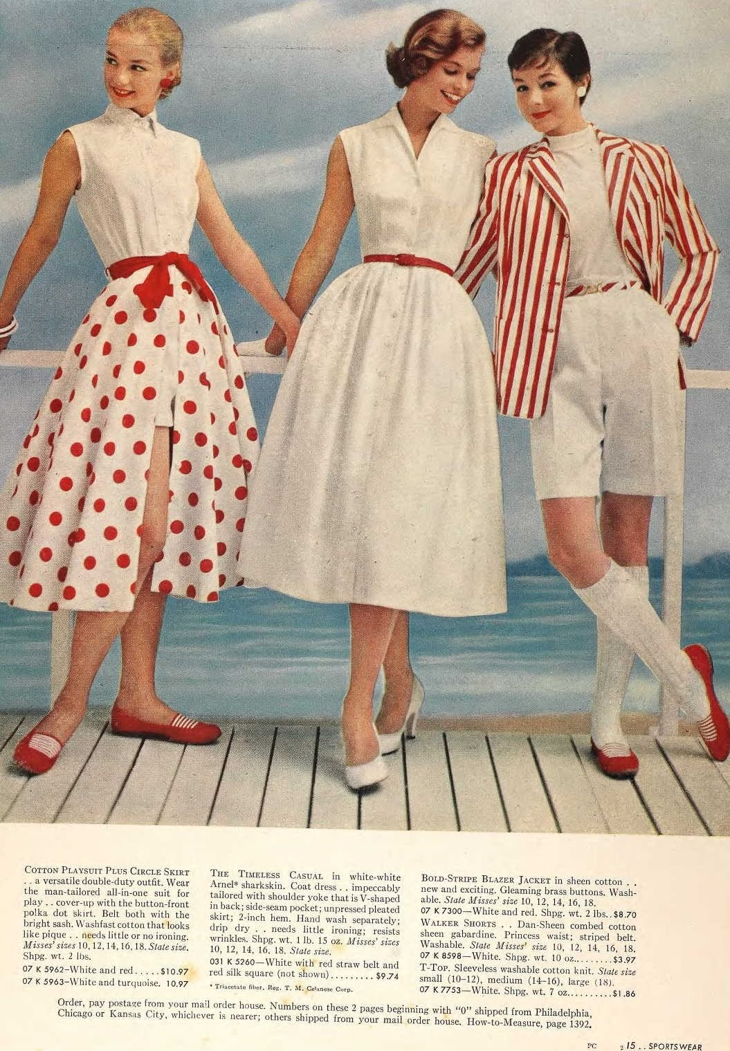 Snapped Garters  1957 Fashions
