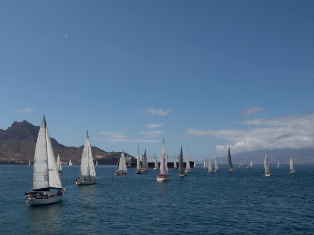 ARC+ fleet leaving Mindelo and Cape Verde