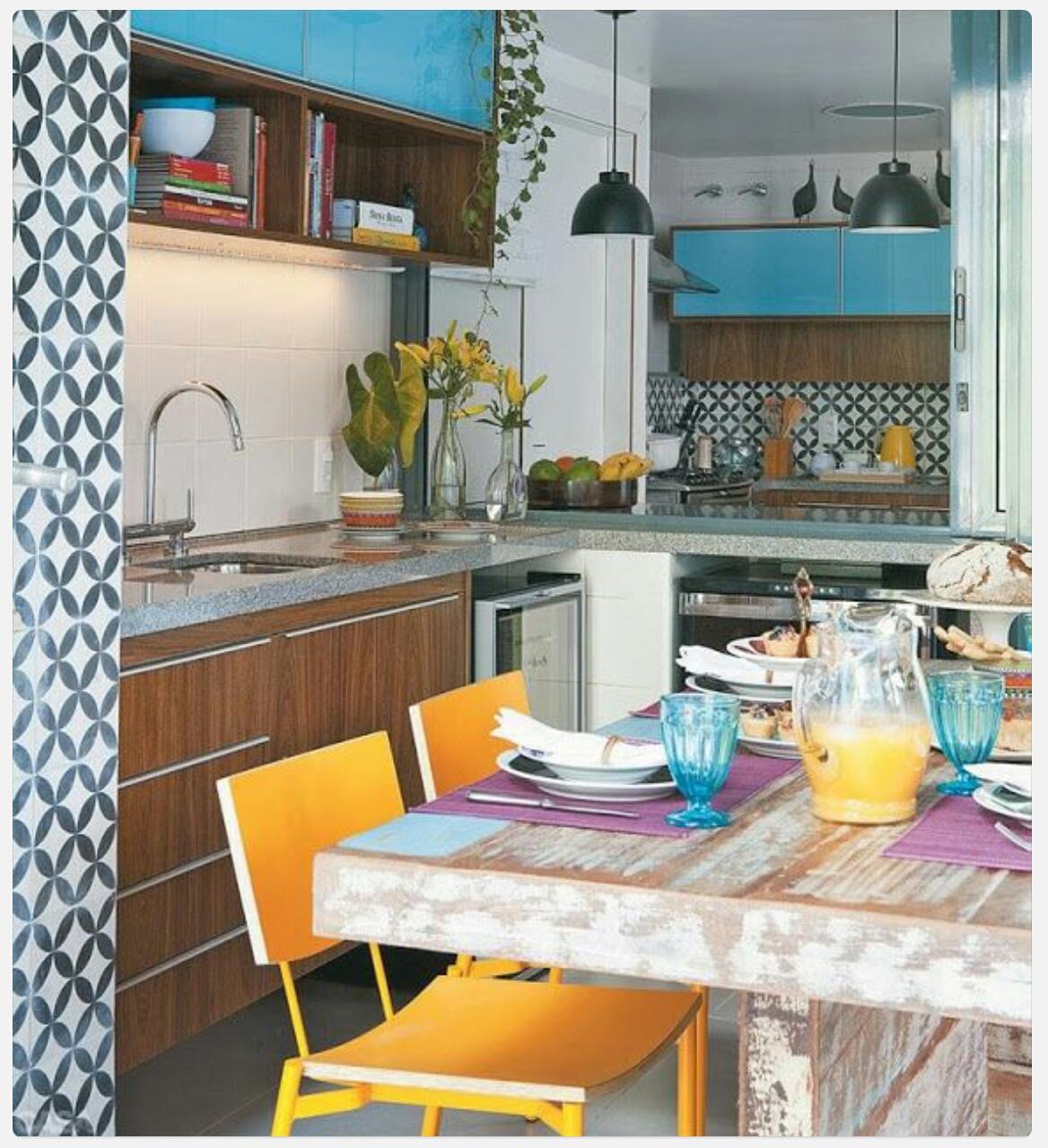 Minha vida Criativa Decorao  Cozinha Azul para