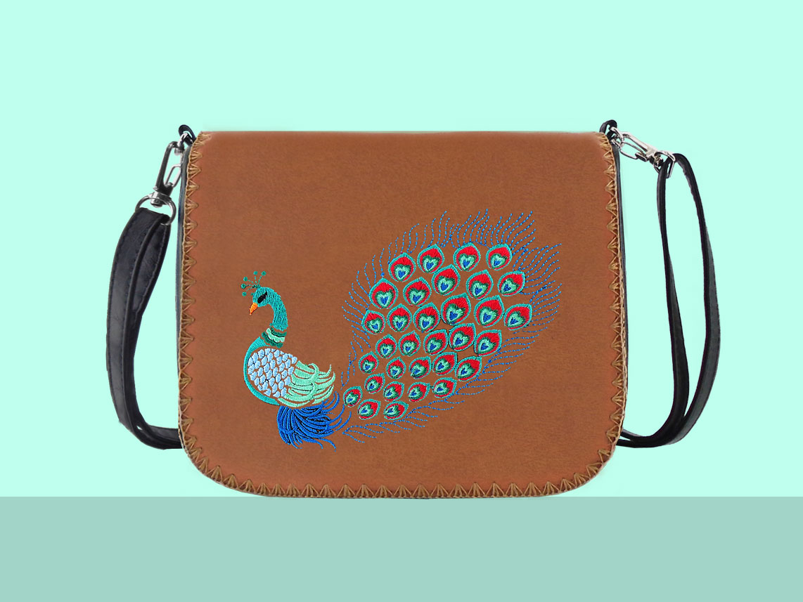 LAVISHY peacock bag