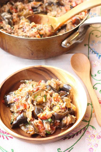 riz aux aubergines grece