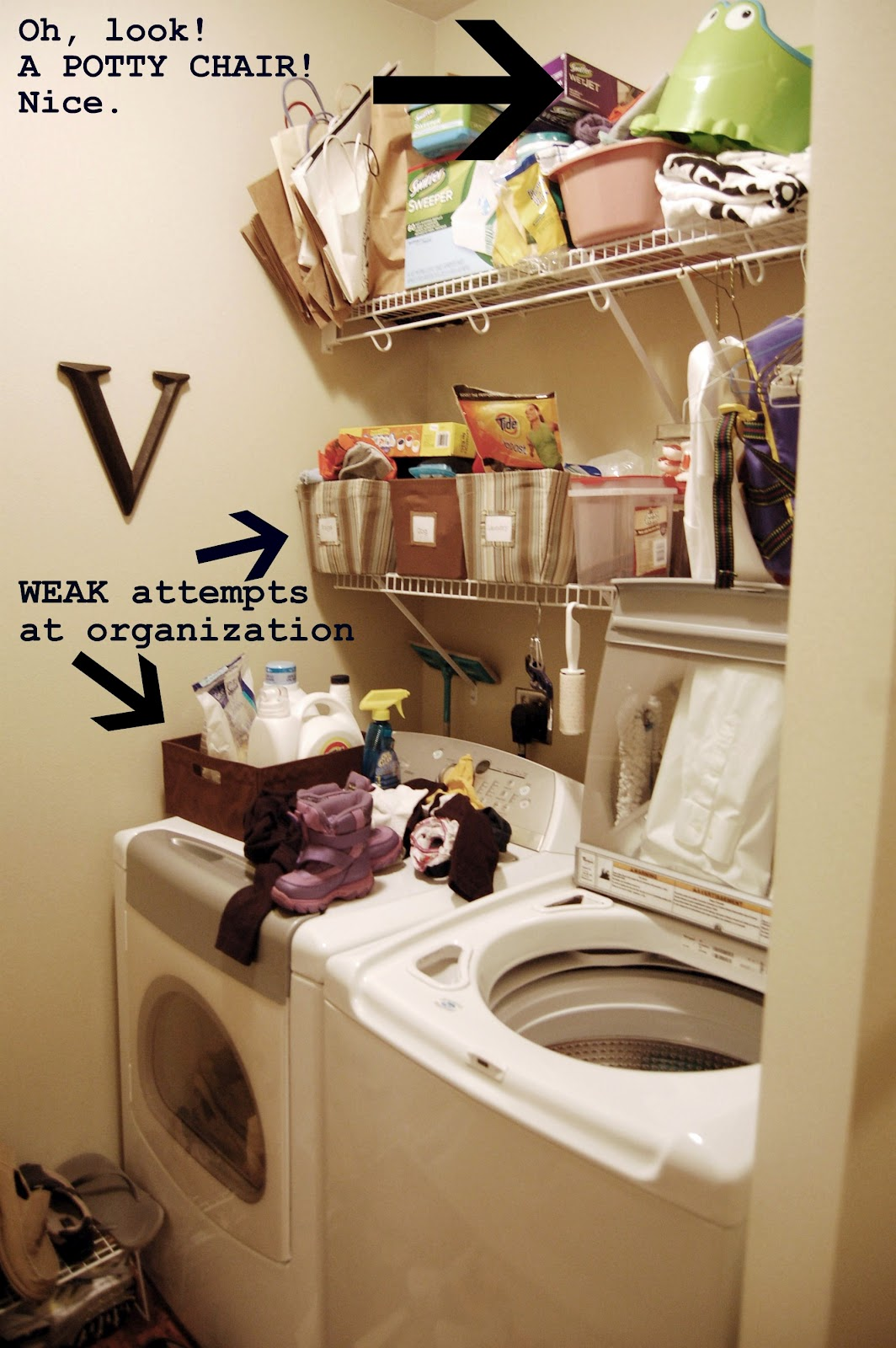 On the V Side: Laundry Room SOS: Before & After