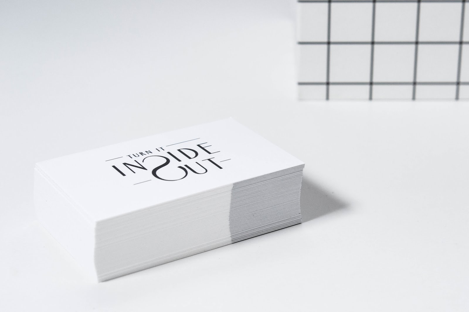 Moo, business cards, minimal, interior blogger, fashion blogger, black and white, logo design