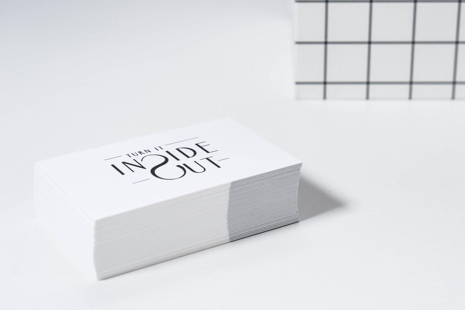 Moo, business cards, minimal, interior blogger, fashion blogger, black and white, logo design