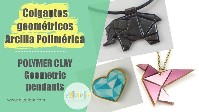 colgantes geométricos arcilla polimérica