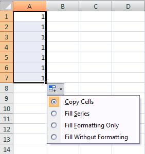 Simple Excel Autofill