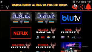 Ücretsiz - Netflix Blu TV ile Film Sinema Dizi izleyebilirsiniz