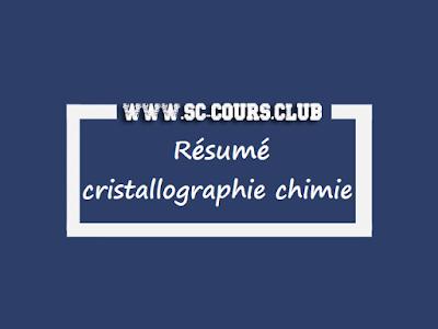 résumé de cours de cristallographie chimie pour les filières smp smc semestre s4