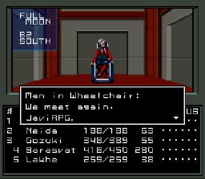 Shin Megami Tensei - Wheelchair man
