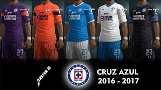 Kits Cruz Azul 2016-2017 Pes 2013 By Master26