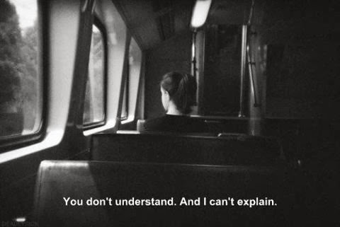 You don't understand, and I can't explain.