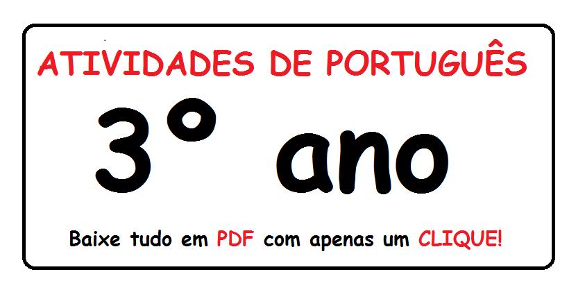 083199ac9856 BAIXE EM PDF - Atividades de português para o 3° ano — SÓ ESCOLA