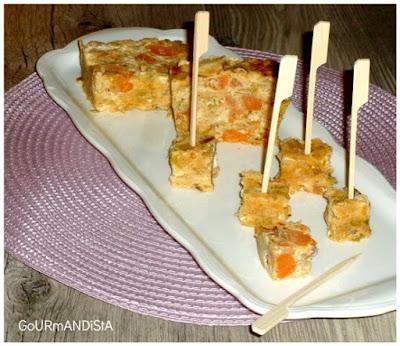 image Bouchées poireaux, patate douce, feta