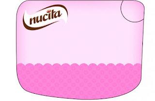 Etiqueta Nucita de Corazones Rosa para imprimir gratis.