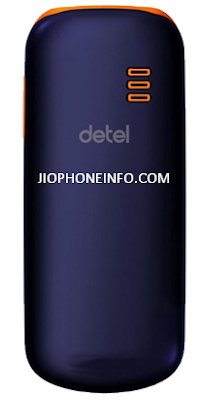 Detel D1 Phone back side and showing logo.
