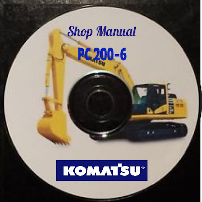 Excavato komatsu pc 200-6 shop manual