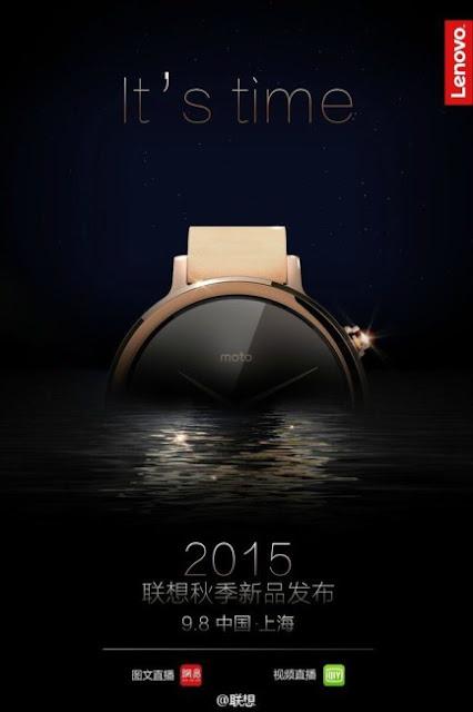 The date presentation of the new Motorola Moto 360
