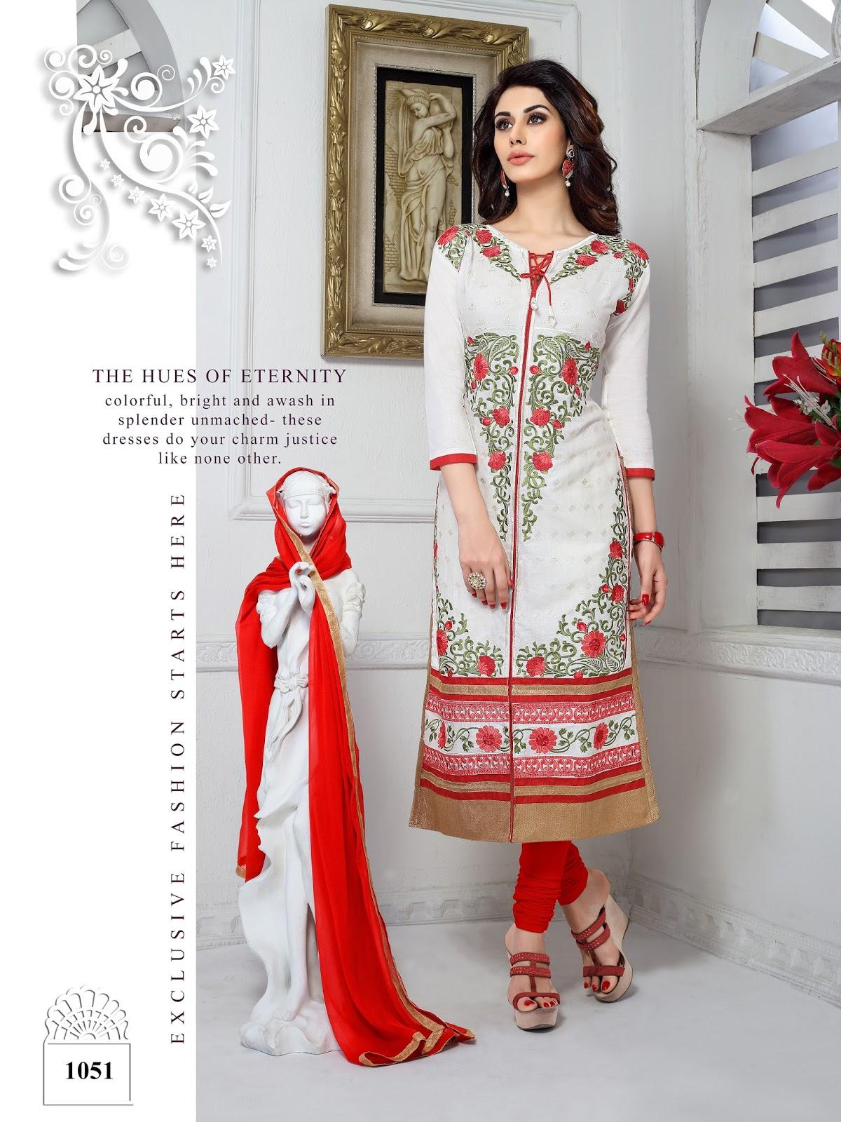 Sabia 4 – Designer Churidar Long Salwar Suit Material