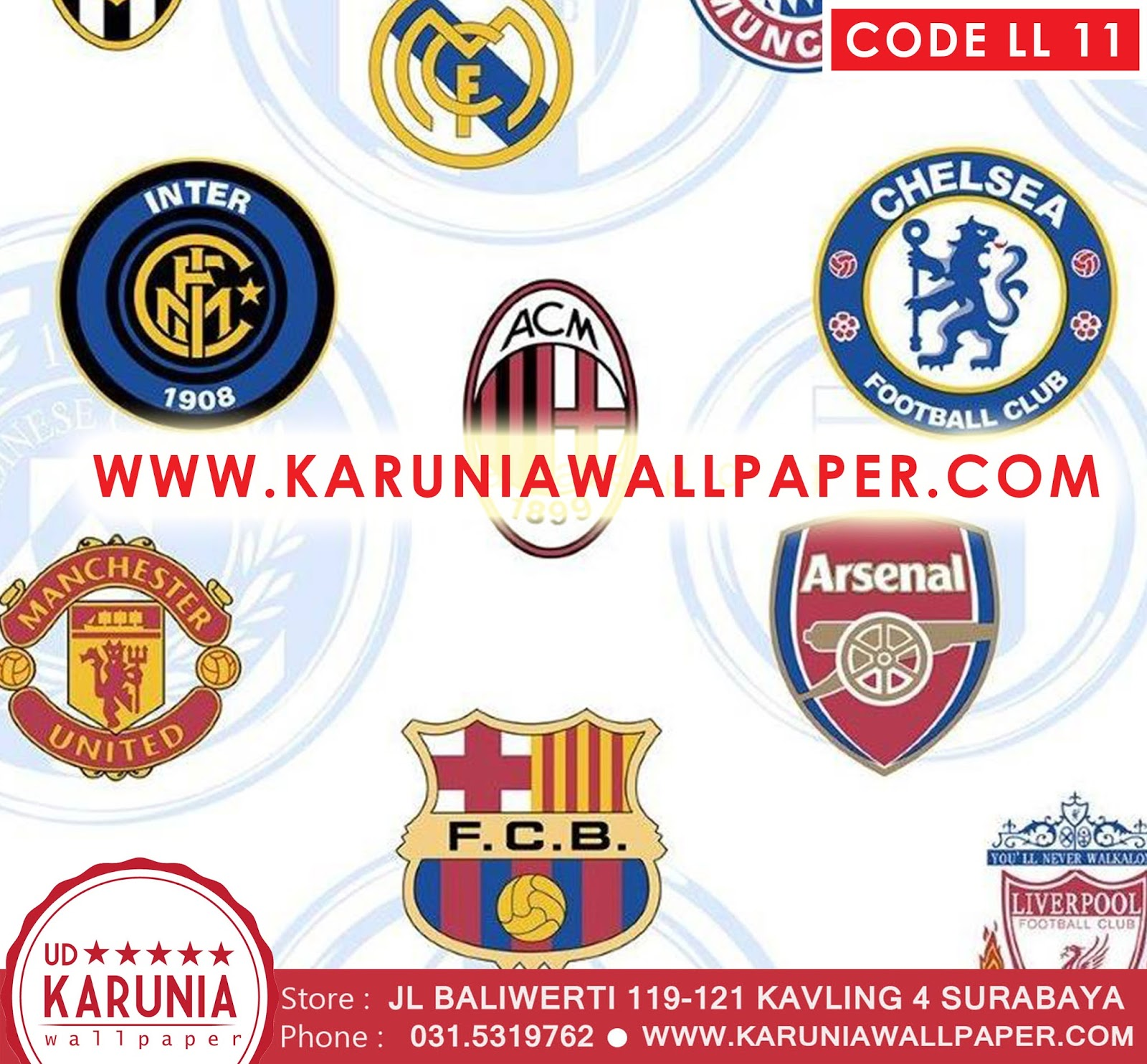 jual wallpaper logo sepak bola