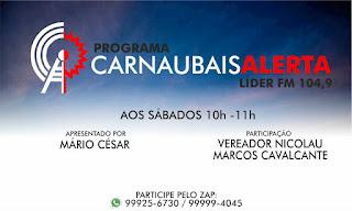 Resultado de imagem para foto do programa Carnaubais alerta