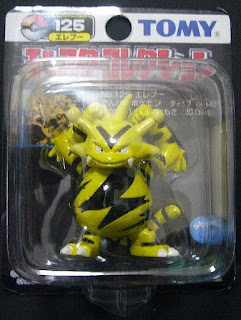 Electabuzz Pokemon figure Tomy Monster Collection black package series