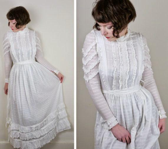 Peace, Love & Daisy Chains Blog: 70s Wedding Dress