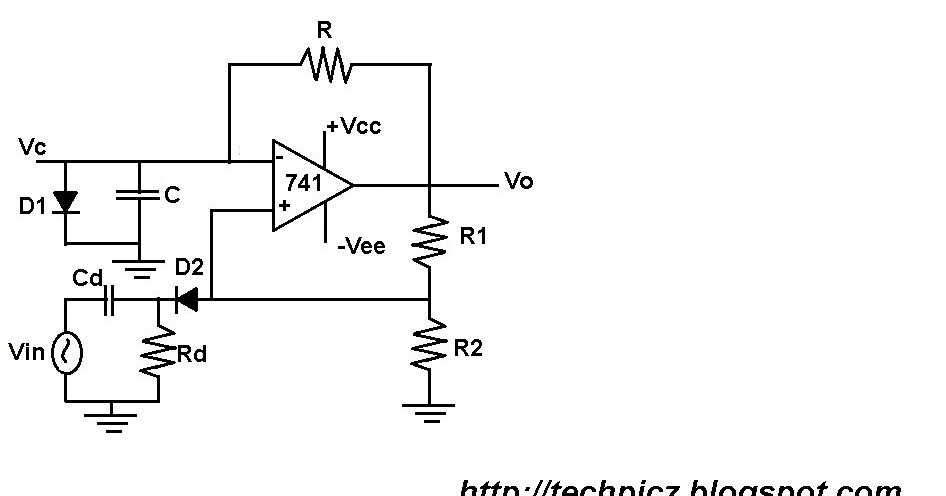 TECHPICZ: MONSTABLE MULTIVIBRATOR USING 741 OP-AMP