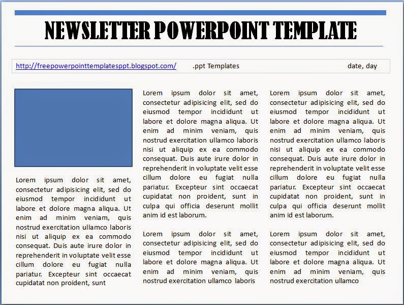 Free Powerpoint Newsletter Template To Download And Customizable