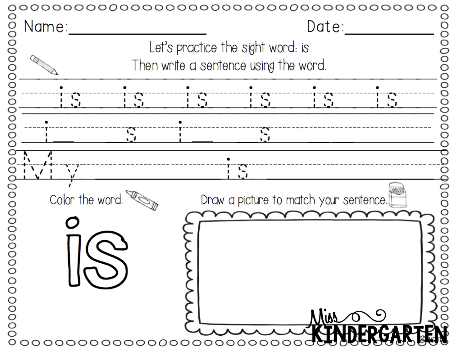 Sight Word Worksheet New 511 Sight Words And More