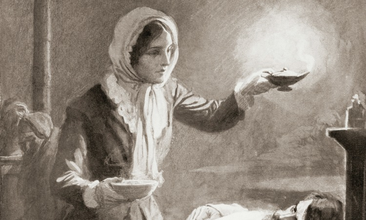 """the life of the lady of the lamp florence nightingale Saving thousands of young soldiers' lives, florence used her skilled  her efforts,  she quickly became recognized as, """"the lady with the lamp."""