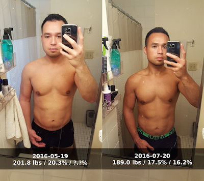 Before and after photos 60 days into keto diet - front