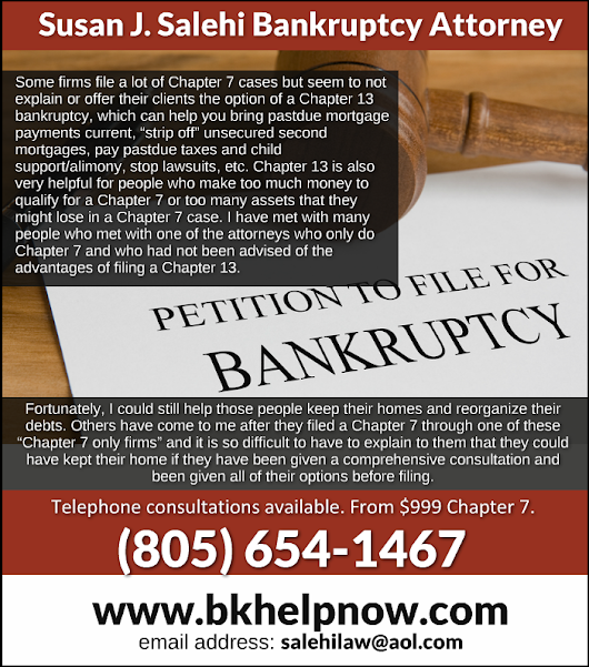 Chapter 7 and 13 Bankruptcy Attorney Susan Salehi