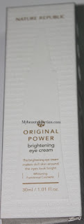 Nature Republic Original Power Eye Brightening Cream review