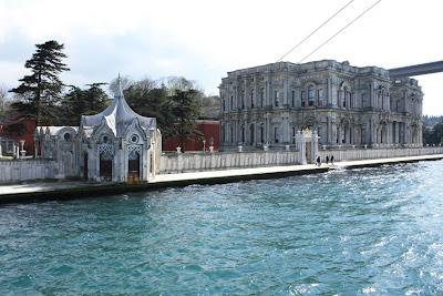 Beylerbeyi Palace in Istanbul beside the Bosphorus