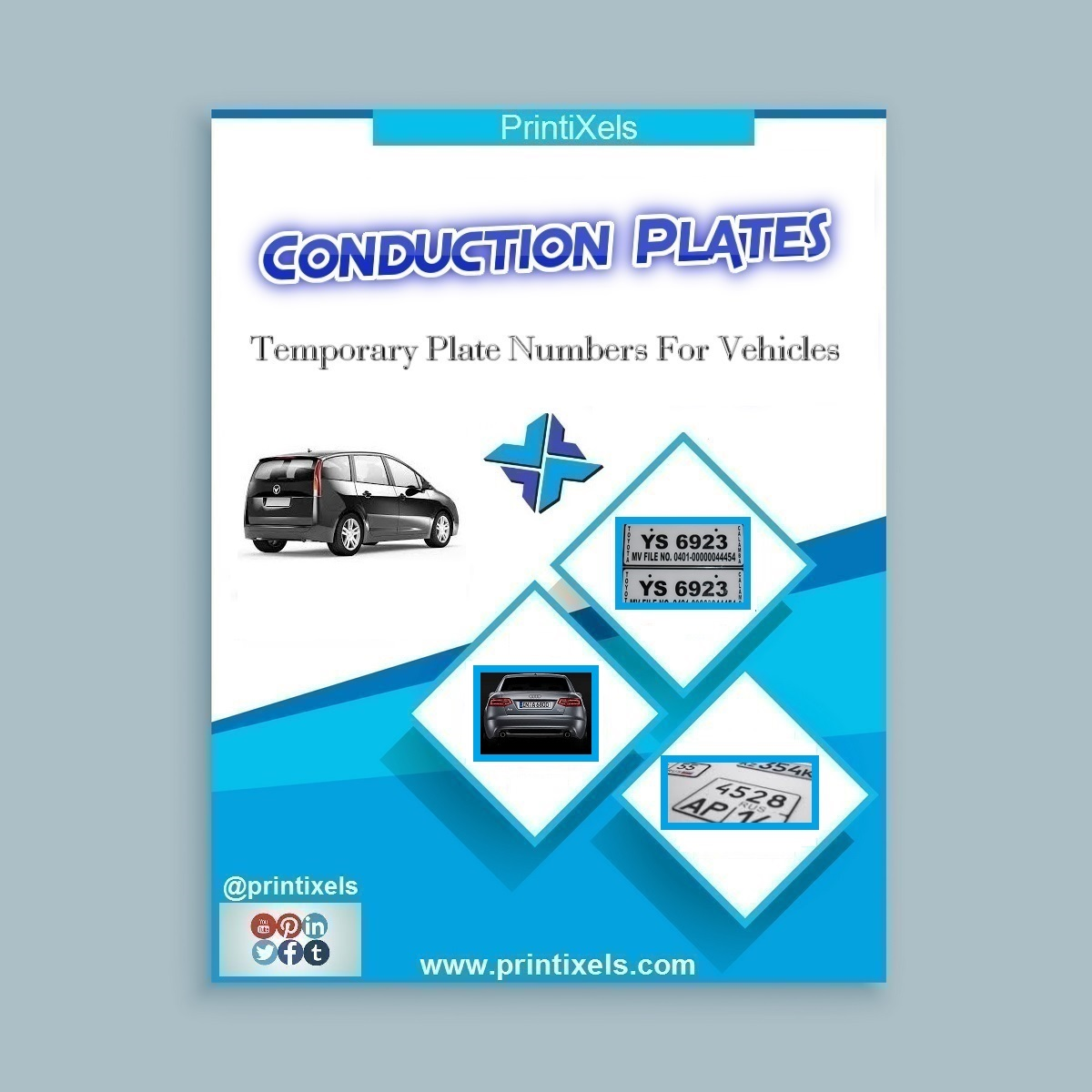 Conduction Plates, Temporary Plate Numbers For Vehicles