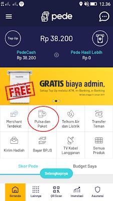 cara mendapatkan pulsa gratis dari aplikasi pede android