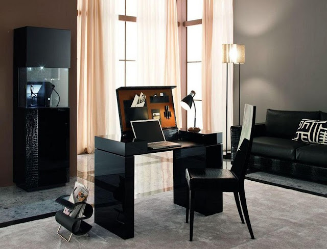 best buy computer desk home office furniture pc table black gloss for sale