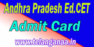 Andhra Pradesh AP Ed.Cet AdmitCard APEd.Cet Admit Card