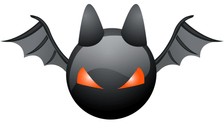 Creepy Bat Halloween Icon