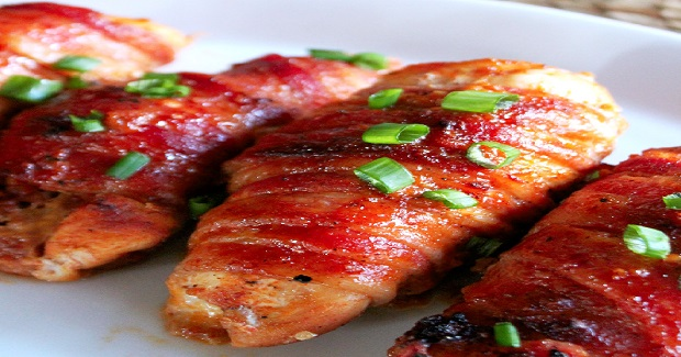 Bacon Wrapped Teriyaki Chicken With Kikkoman Recipe