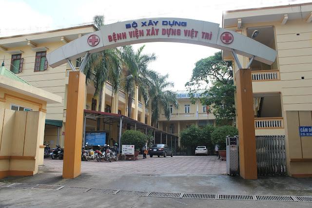 Bệnh viện Xây dựng Việt Trì nhìn từ bên ngoài
