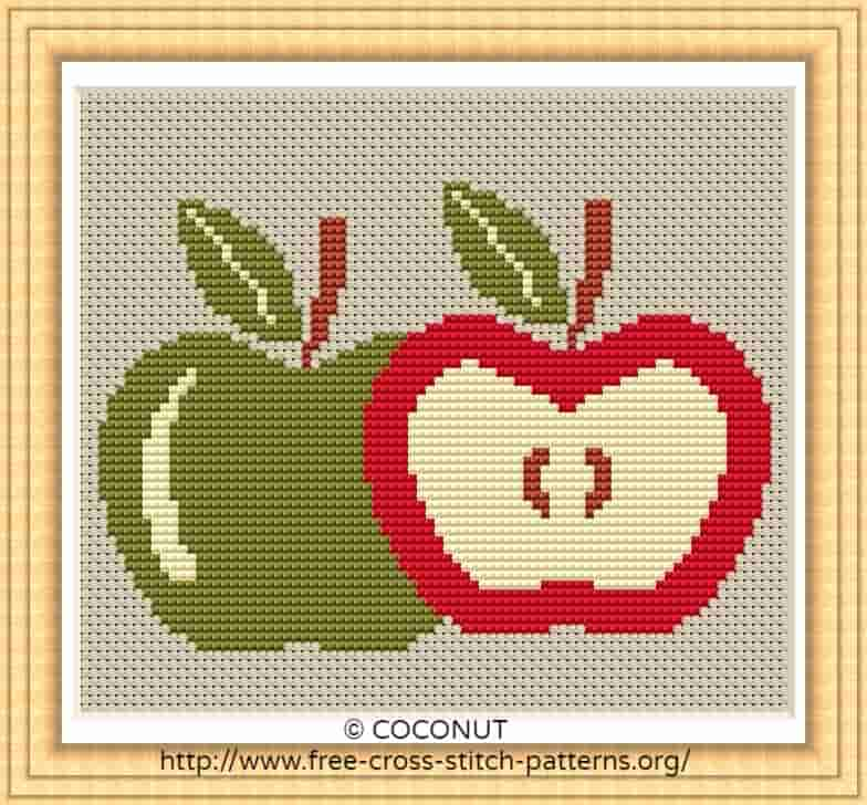 graphic regarding Apple Pattern Printable known as APPLE (2) , No cost AND Uncomplicated PRINTABLE CROSS STITCH Behavior