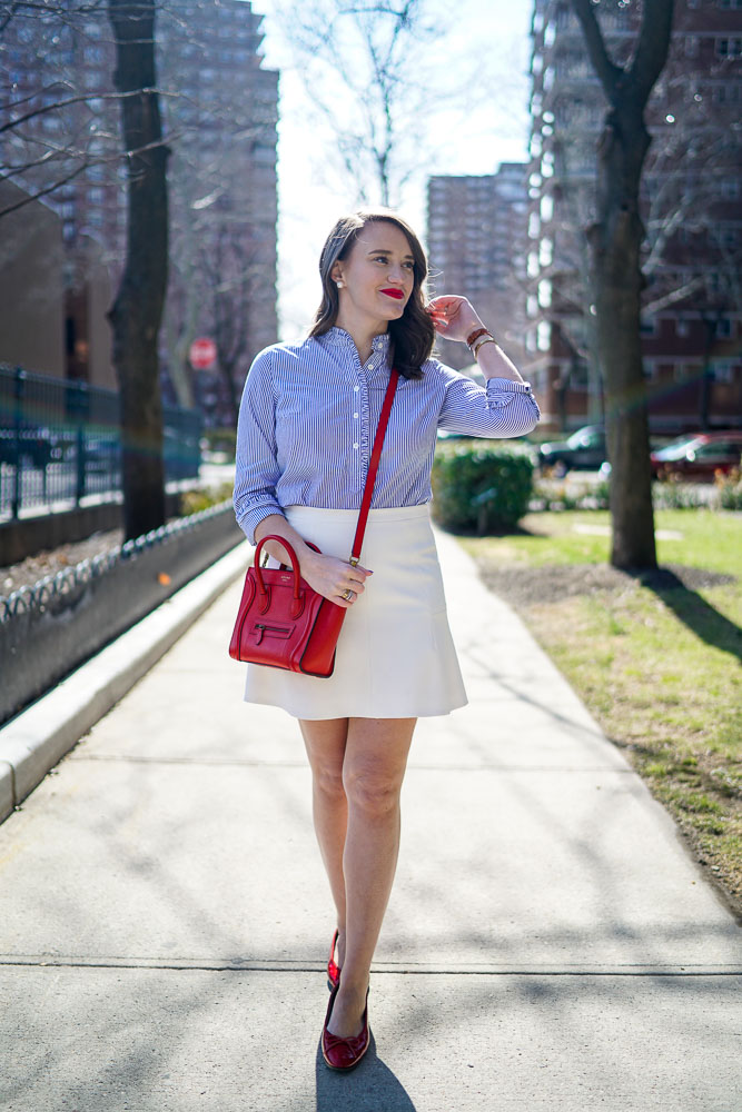 Krista Robertson, Covering the Bases,Travel Blog, NYC Blog, Preppy Blog, Style, Fashion Blog, Travel, Fashion, Style, Spring Fashion, Spring Style, White Skirts, Red Accessories, Preppy Looks, Preppy Style, Wizard of Oz Shoes